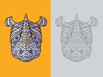 Rhino Final vector rhinos process line drawing animal rhinoceros rhino