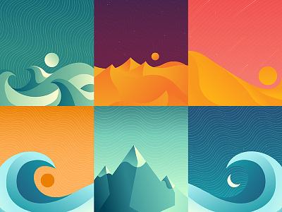Environments II nature waves sand dunes mountains series environments environment