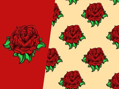 Rose Pattern patterns roses red petals petal leaf pattern rose