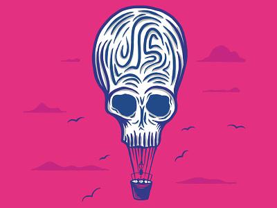 Hot Air Skulloon procreate skull art skulls hot air balloon balloons balloon skull