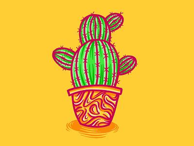 Plants in Pots I ipad drawing procreate groovy funky cacti pot pots plants plant cactus