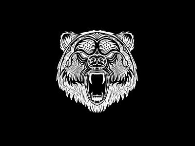 Bear scary drawing fur roar bear