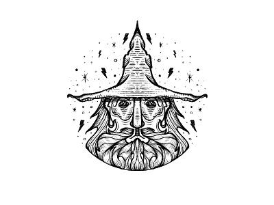 WIZARD thunderbolt bolt magician mage spell magic wizard