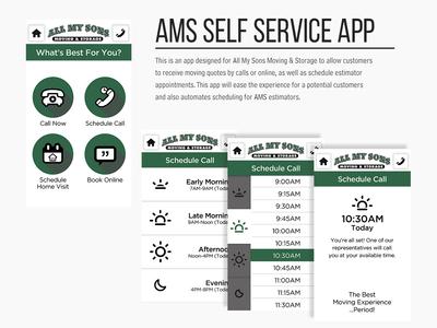 All My Sons Self Service App Design