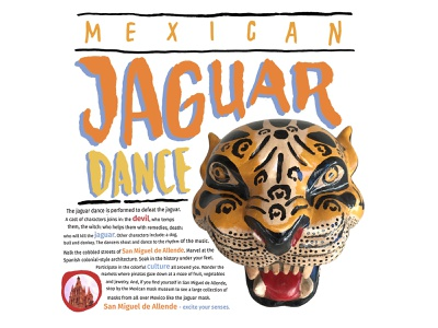 Jaguar Dance photography hand-done type custom type travel advertising typography branding vector design illustration