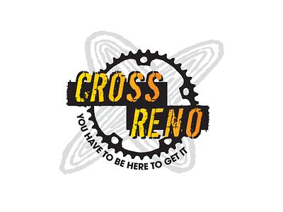 Cross Reno Logo cyclocross cycling grunge gritty rough hand-done type logo branding