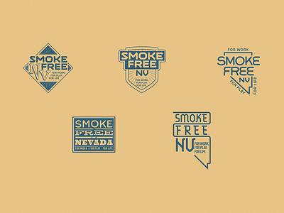 Smoke Free NV logosheet causes vintage badge crest vintage nevada logo vector custom type branding design