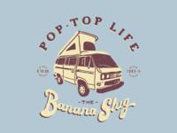 Banana Slug typography logo branding gritty vector custom type illustration tshirt design