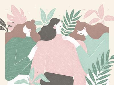 The Authentic Women by Springfield plants nature procreate illustration internationalwomensday springfield womens day women woman