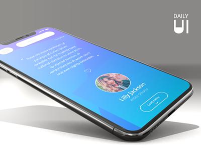 Daily UI Challenge #039 - Testimonials feedback phone app design app flat  design graphic  design design uidesign ux ui dailyui039 dailyui 003 testimonials