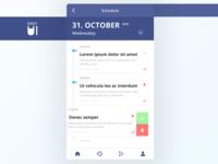 Daily UI Challenge #071 - Schedule