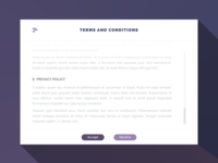 Daily UI Challenge #089 - Terms of Service