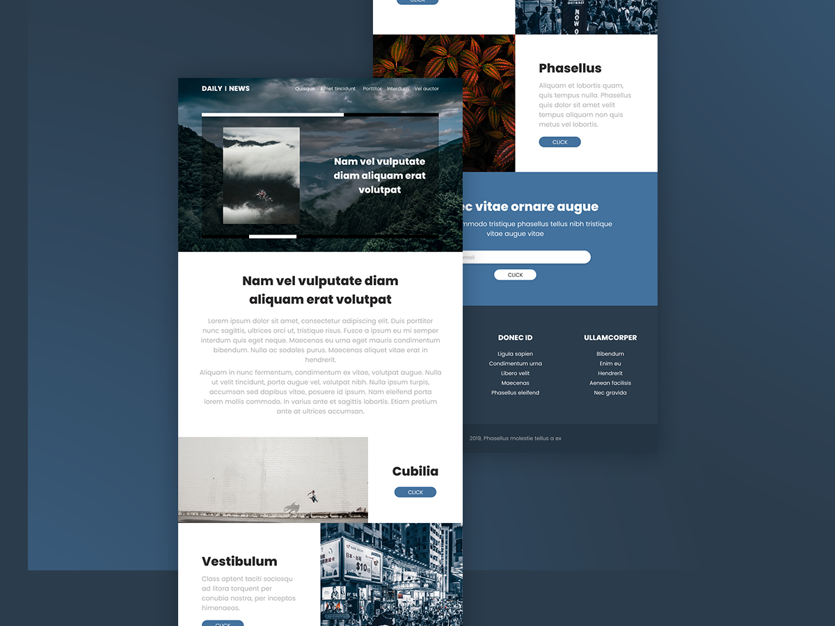Information website design by Ľuboš Katunský on Dribbble