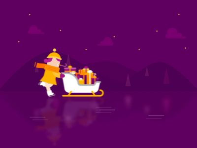 Verti christmas verti illustration character design motion after effects character animation