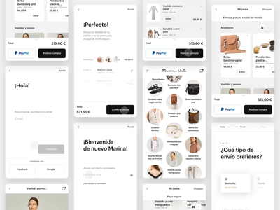 Massimo Dutti product design ecommerce shop sketch after effects principle animation motion user experience interface checkout product page massimo dutti inditex mobile fashion app ux ui