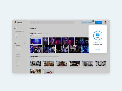 Ifema photo library animation motion sketchapp after effects photo library ifema web design web interface ux ui dark ui dark mode components ui kit