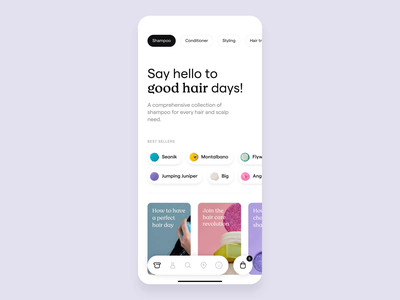 Lush app app ux ui interface mobile animation motion after effects cart shop product page ecommerce lush beauty shampoo