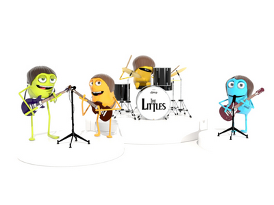 The Littles littles beatles john lennon 3d max render character animation