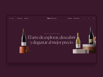Vino Selección ecommerce shop wine ecommerce figma interface ui ux after effects motion animation