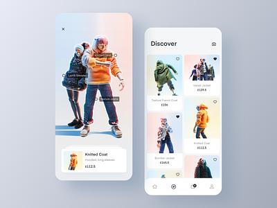 HLA Men's wardrobe 2 shopping vector design interface card ui