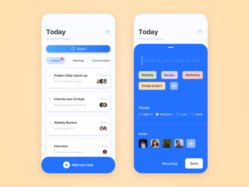 To do list materialdesign sketch plan work schedule 2019 page app ux color training design ui