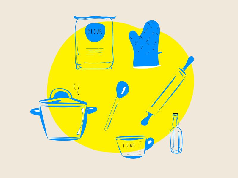 Cookbook doodles vector icon doodles design illustration