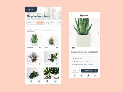 Mobile Plant Store Design