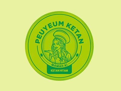 Mamah Ai logo badge design badge logo design illustration branding logo vector