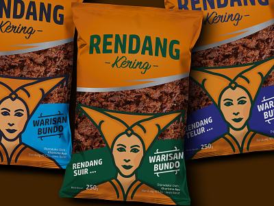 Packaging Mockup Psd redesign rendang mascot food illustration design packaging design logo