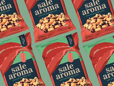 Banana chips packaging pattern bananas mock ups food typography vector branding packaging design logo