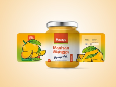 Candied Mango mango icon food typography illustration design branding vector packaging design logo