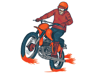 Vintage rece retro speed race motorcycle vector packaging design vintage illustration