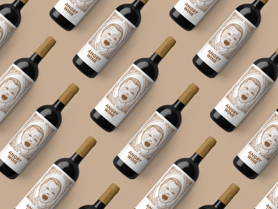 ANGRY WINE hire me wine label wine beverage packaging beverage design illustration design branding vector packaging design