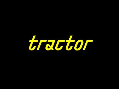 Tractor brutalism modern lettering design geometric digital branding logotype identity mark logo