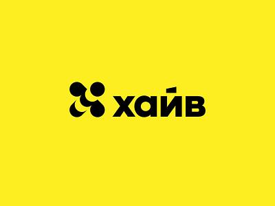 Hive hive bee abstract design geometric digital branding logotype identity mark sign logo