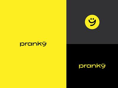 Pranky abstract icon lettering digital branding logotype identity sign mark logo