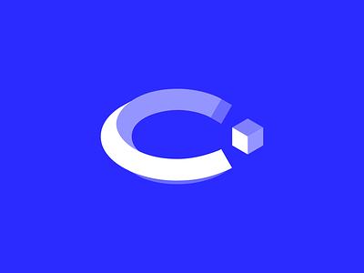 VR course education vr design abstract geometric digital branding logotype identity sign mark logo