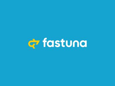 Fastuna digital fast fish tuna logotype mark sign logo identity