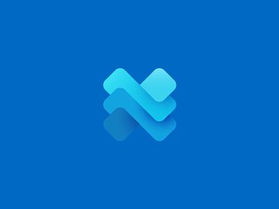 Newton layers newton n geometric logotype sign logo identity