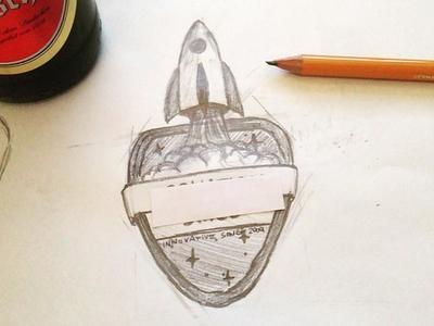 Space Mission Badge toinfinityandbeyond nasa badge space pencil sketch