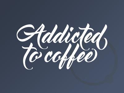 Addicted to coffee - Transfer Sticker coffee decal transfer sticker stickermule