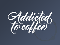Addicted to coffee - Transfer Sticker