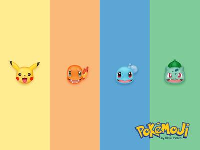 Pokémoji - The Starters iconset emoji pokemon go pokemoji schiggy glumanda bisasam bulbasaur squirtle charmander pikachu pokemon