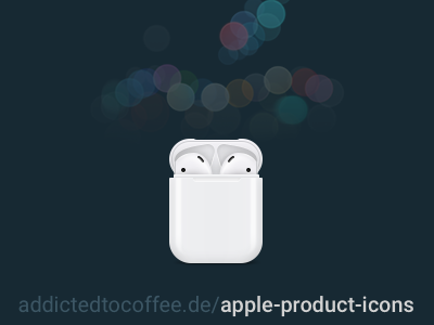 Apple AirPods Icon icons icon set apple headphones iphone 7 earpods airports apple product