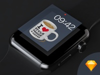 Apple Watch Face Template for Sketch