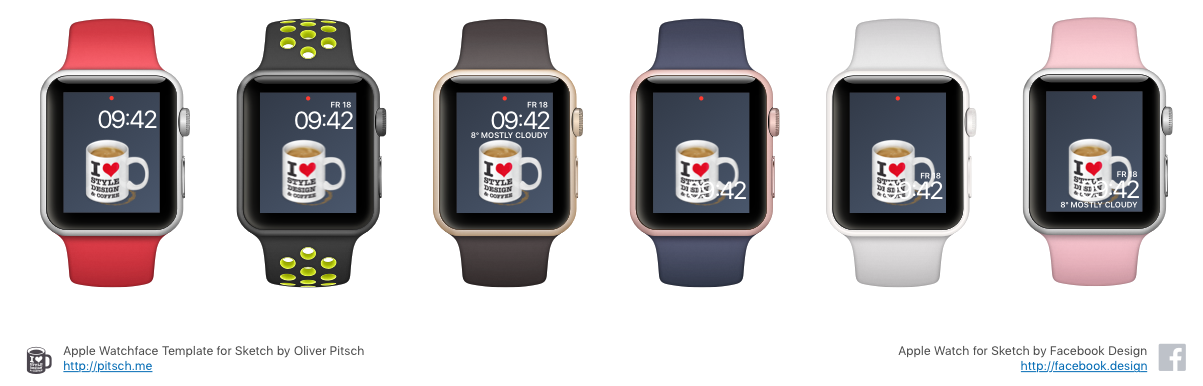 dribbble apple watchface template previews png by oliver pitsch