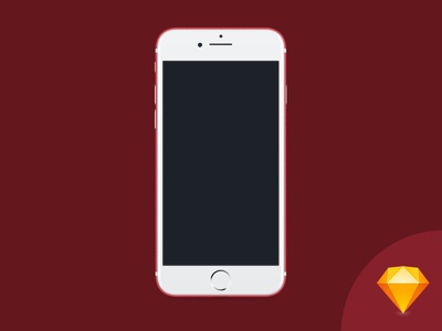 iPhone 7 PRODUCT(RED) Sketch File sketch product red red apple iphone