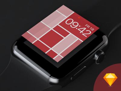 UPDATE: Apple Watch Face Template free freebie template sketch watchface watch face apple watch watch apple