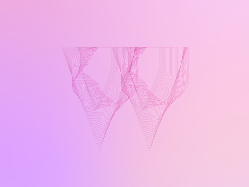 W abstract ui pink color dailydoodle 36 days of type typography colors illustrator cc design vector graphic  design