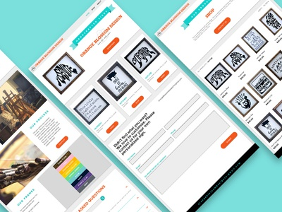 Orange Blossom Design Website Mockup